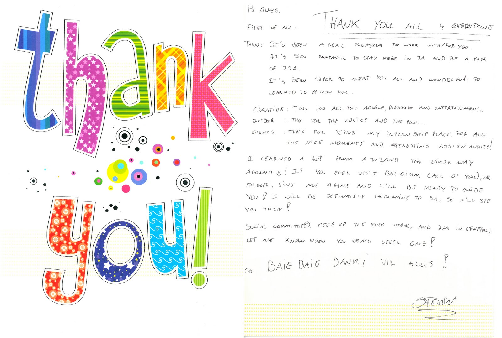 thank you notes to colleagues info best goodbye letter for work sample job application letter