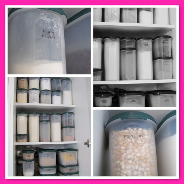 Organizing a Pantry, Pantry Ideas and Inspiration, Natasha in Oz, Grey Kitchen, Pantry, tupperware