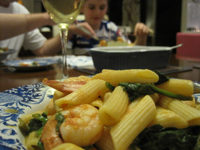 Fast and Easy Pasta and Prawn Recipe, Natasha in Oz