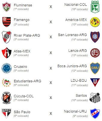 4be7b00c1b Confira todos os confrontos da próxima fase da Libertadores de América