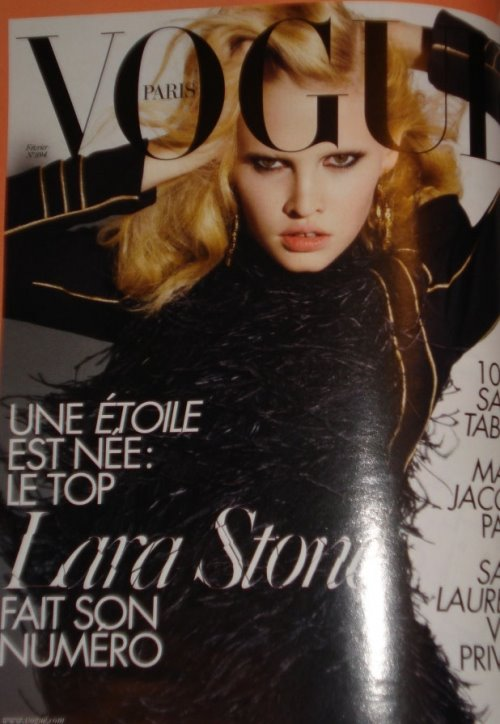 Lara Stone Paris Vogue WOW