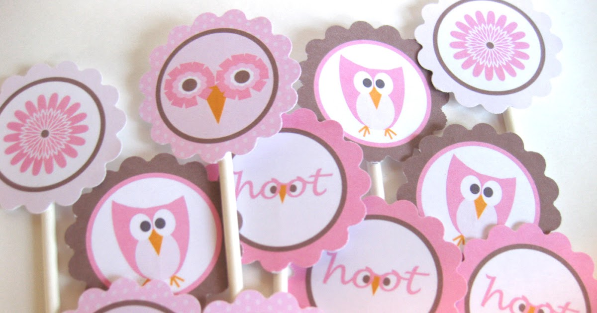 The Printable Party Shop by OMG PRINTABLE Pink Owl Theme Party