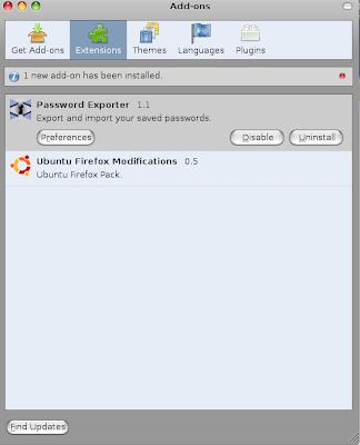 Exporta los passwords y logins guardados en Firefox Password+Exporter_2