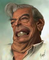 Resultado de imagen para caricatura Vargas llosa