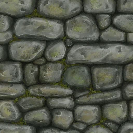 Art by Zwick: painted texture study: Stone Wall 1