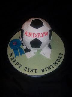 Round Football Shaped 21st Cake