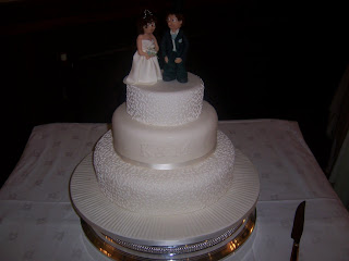 Three tier Cornelli Wedding Cake