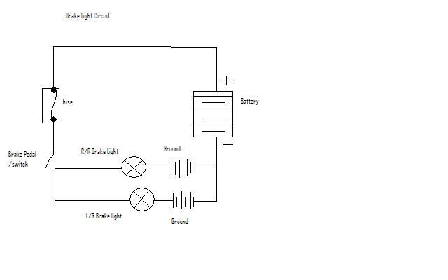 Basic Brake Light Wiring Diagram Schematic Diagram Electronic