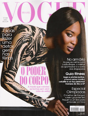 """She is also on the July 08 issue of """"Vogue"""" Brazil. She is just doing it,"""