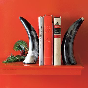 the estate of things chooses horn bookends