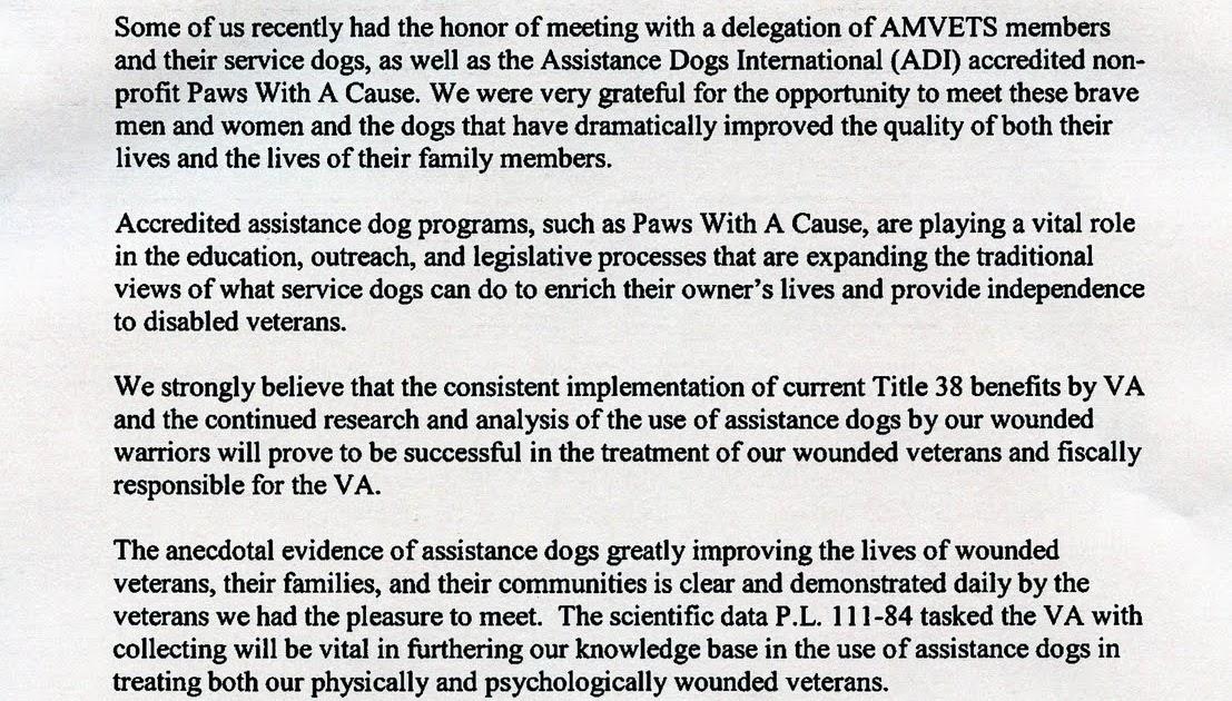 American Veteran line AMVETS Sends Congressional Letter to VA