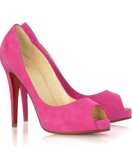 huge selection of 5f9b8 230d7 Think Pretty n Pink!: Pink Suede Heels by Christian Louboutin