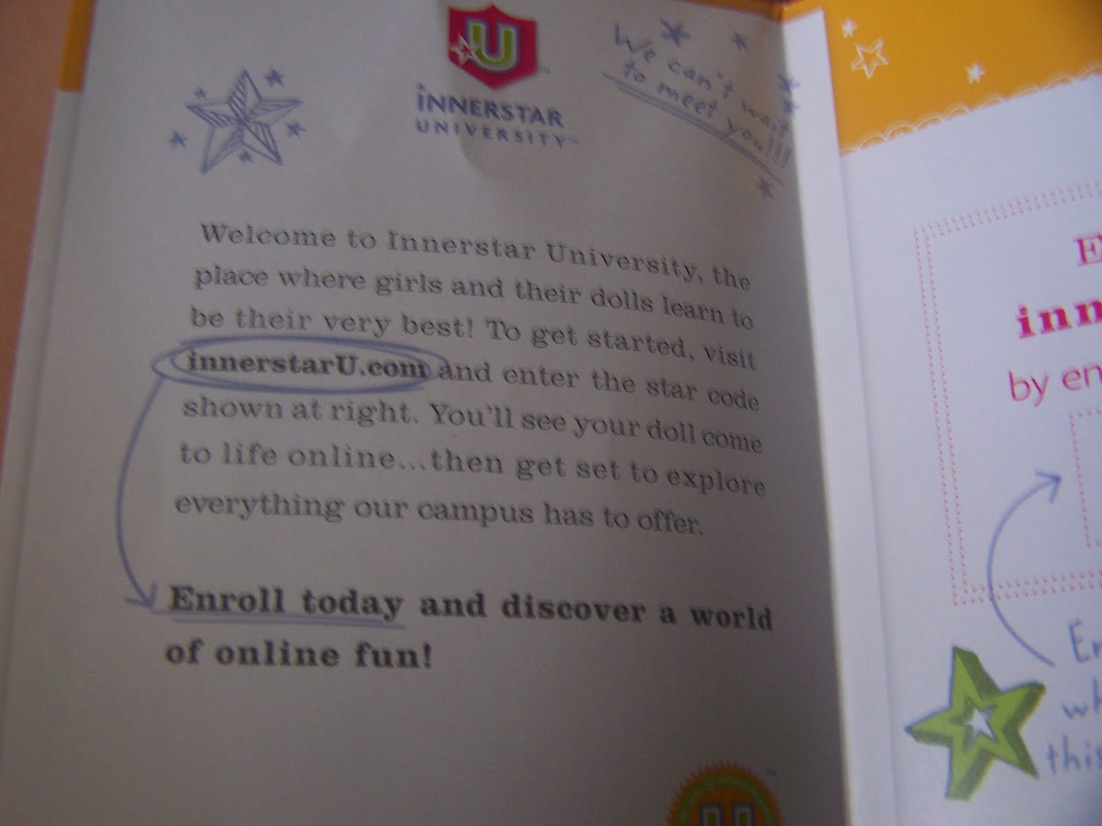 American Girl Friends Innerstar University Campus Guide