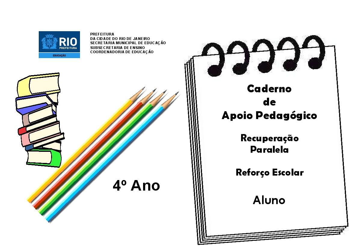 Famosos Caderno de apoio pedagógico - Reforço - 4º ano | Aprendendo com a  DX88