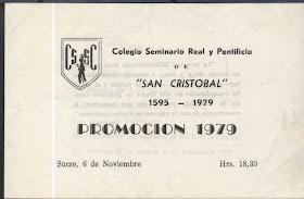 Promocion 1979 Colegio San Cristobal Sucre Se Acuerdan De