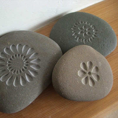 More Ways to Waste Time: Etsy Find of the Day: Letterfest Engraved Stones