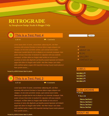 Retrograde Blogger Template