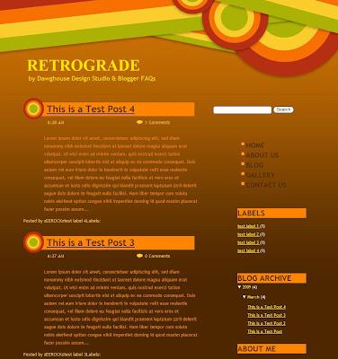 Retrograde Blogger Template
