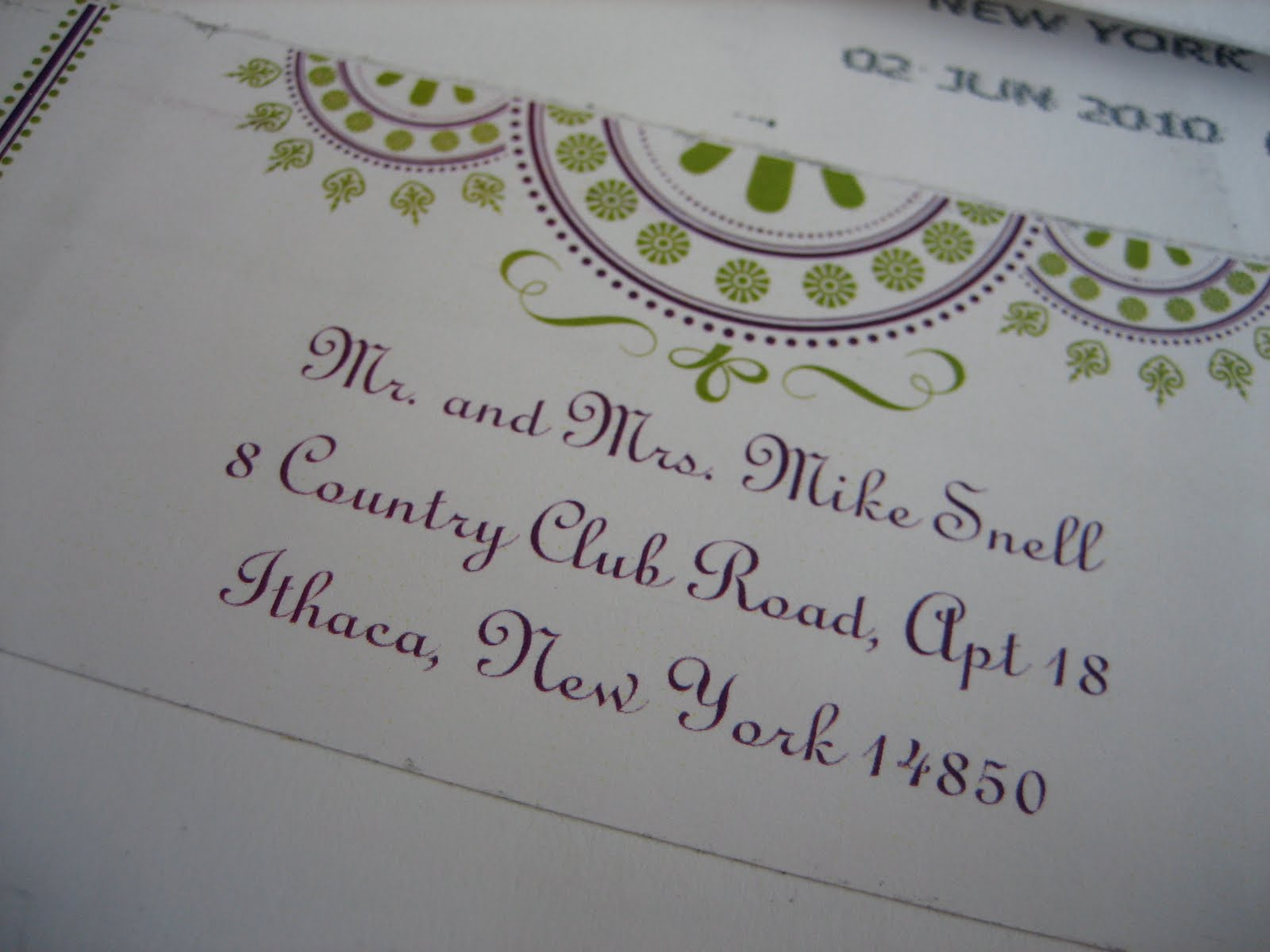 Wedding Invitation Stickers: Navy Bean: Nicole's Wedding Invitation Labels