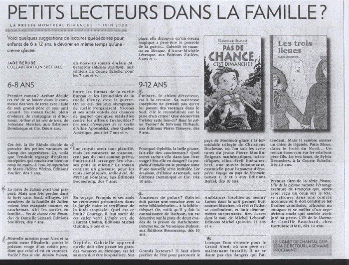 Article jounal La Presse juin 2008