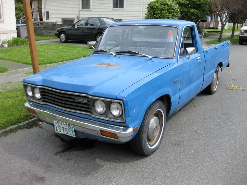 OLD PARKED CARS.: 1977 Mazda B1800
