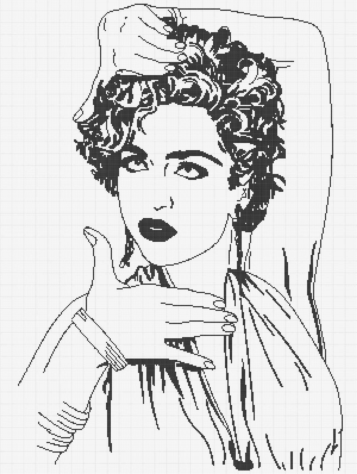 Madonna Coloring Pages Sketch Coloring Page
