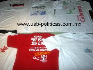 playeras memorias usb campañas politicas  Playera para campaña Peso ... 11b2d1761952e