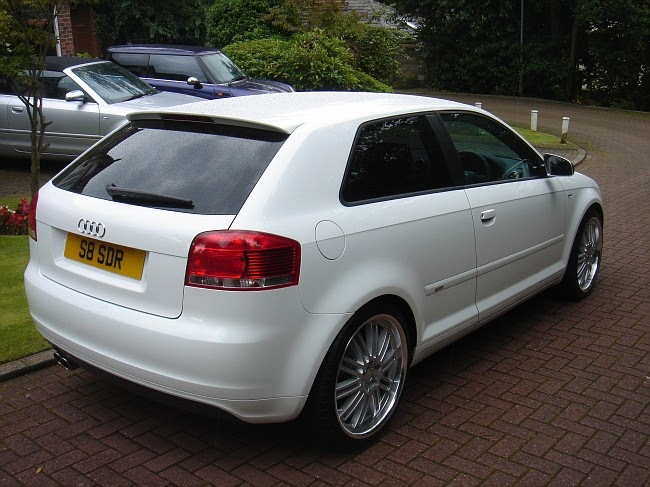 "2008 Audi A4 2.0 T >> audi: white audi A3 with 19"" August Alloys"