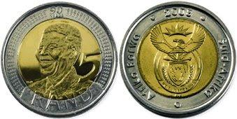 World Coin News South Africa 5 Rand 2008 Mandela
