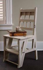 Och hoppsan så blev trappstegen en stol!