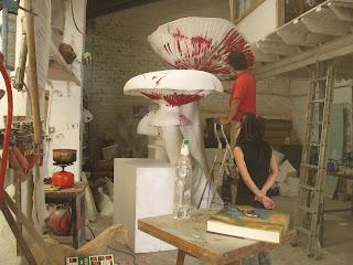Escultura armillarea mellea seta del menmbrillo bronce for Jardin micologico la trufa