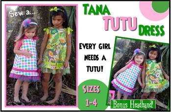 Children's Boutique Sewing Patterns: Tana Tutu Dress Sewing Pattern