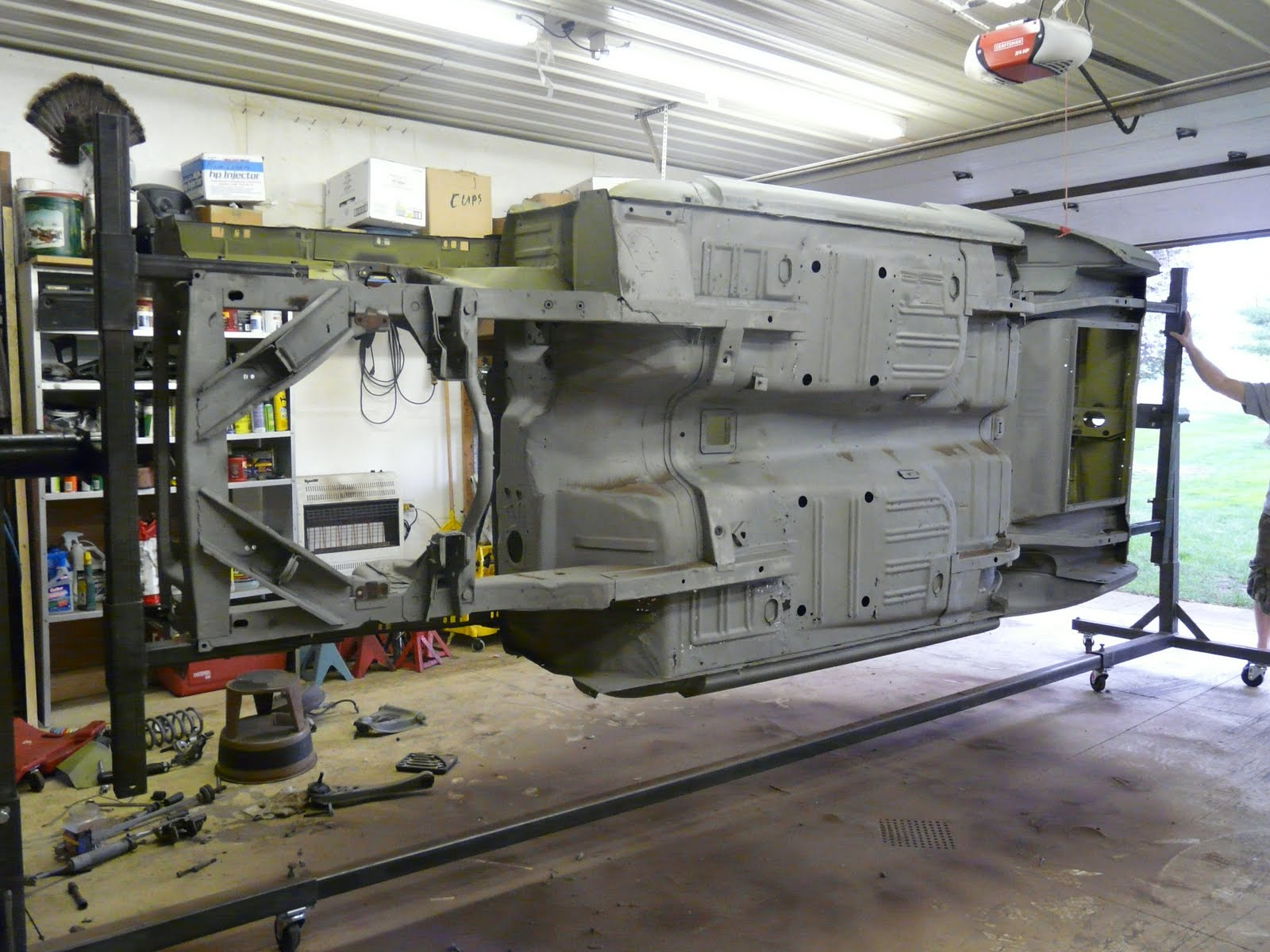 1967 Mustang Fastback >> 1967 Ford Mustang Resto Project: Rotisserie Mustang - It's whats for dinner!