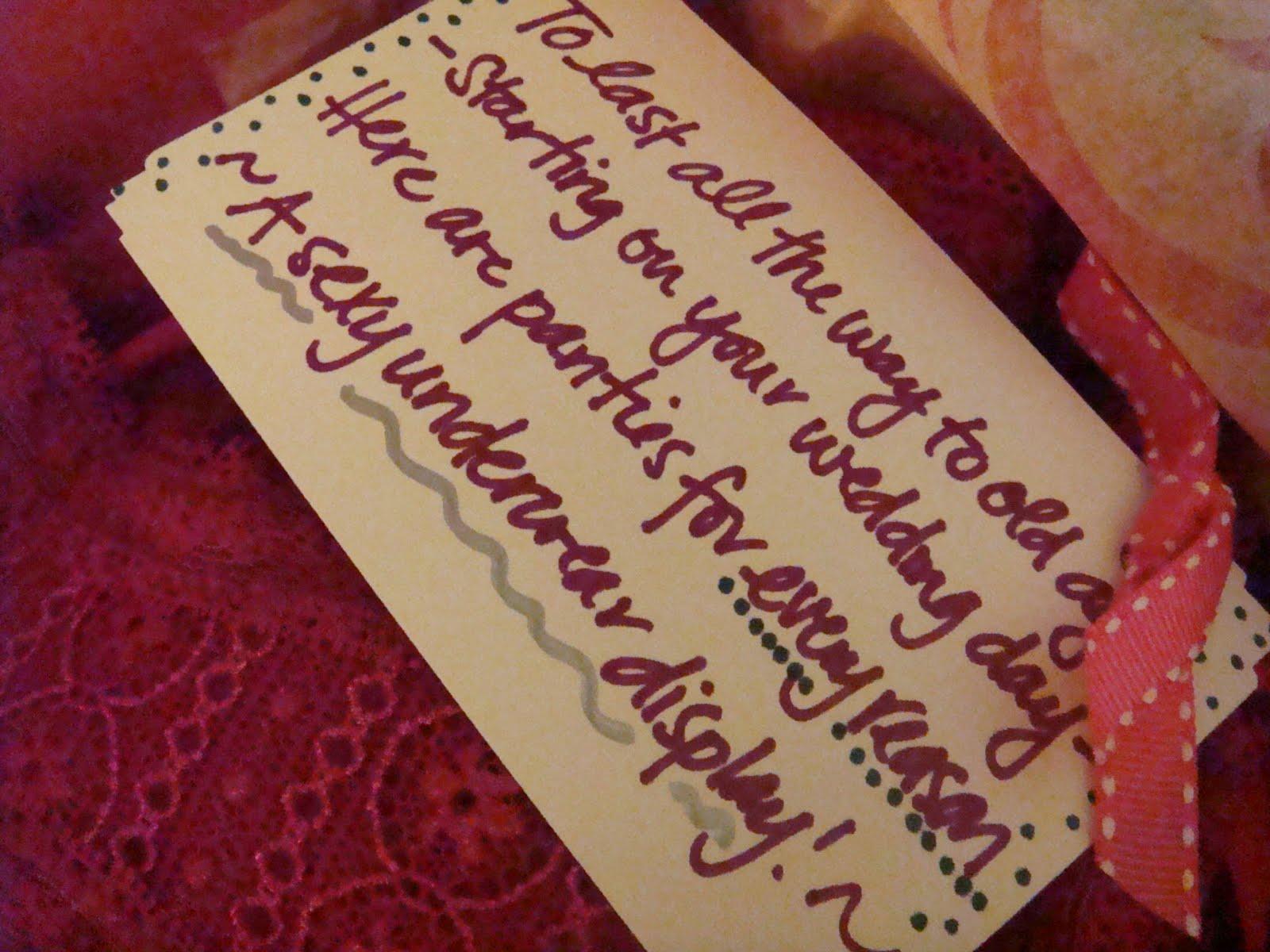 "Gift Poems For Weddings: ""The Panty Poem"" Bridal Shower Gift!"