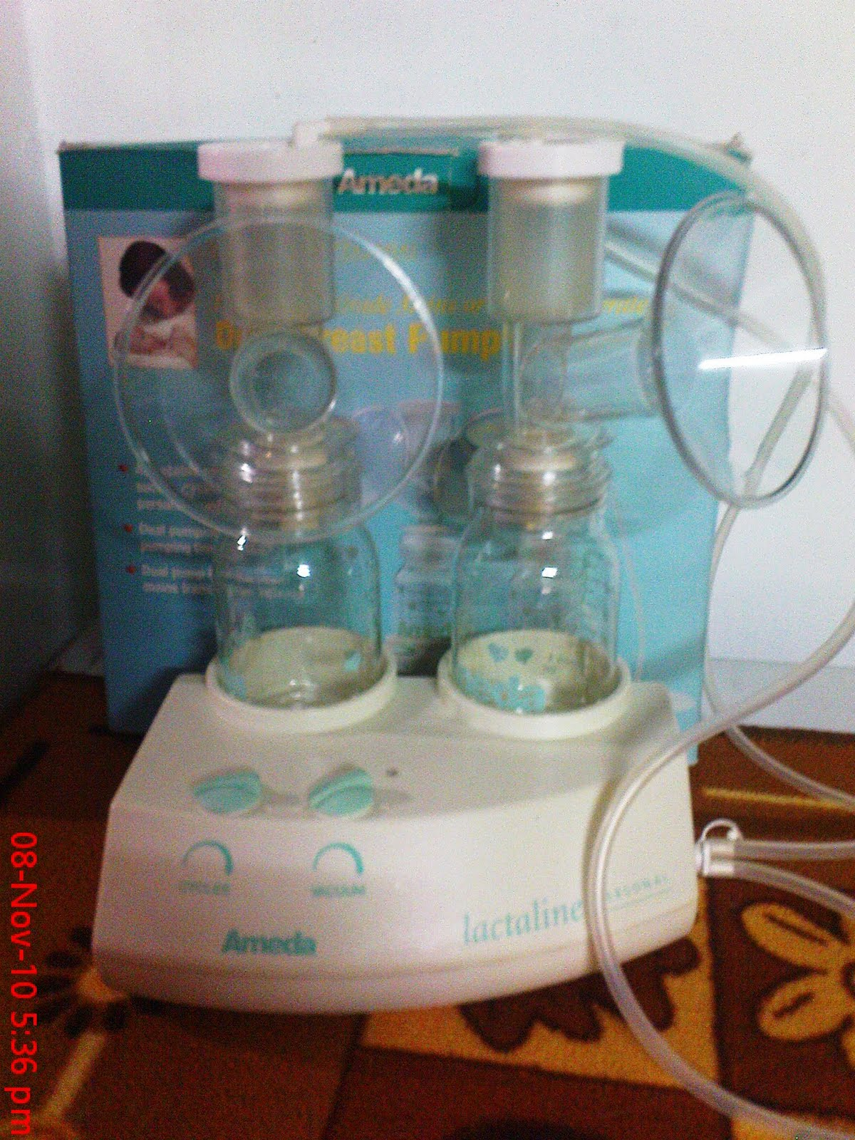 Colourful Ameda Lactaline Dual Electric Breast Pump