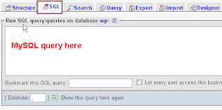 Move Comment Using PhpMyAdmin