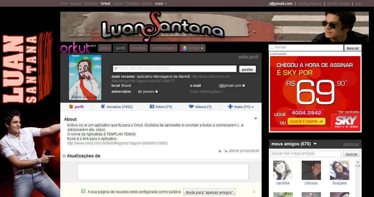 fotos do luan santana para o orkut