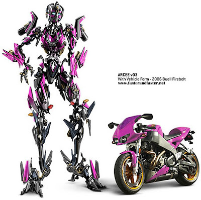 A Buell Firebolt that turns into a robot? Bring on Transformers 2!