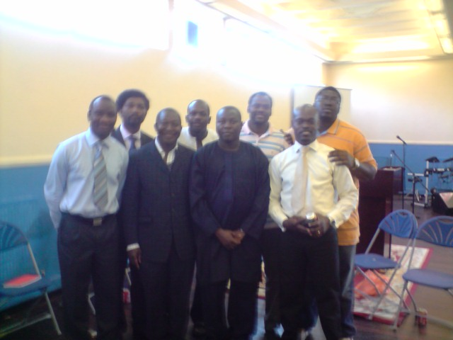 With The Strong Men of Vine Branch Ministries UK