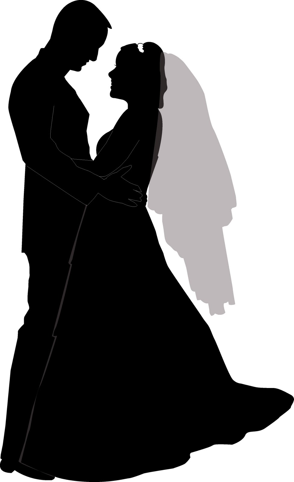 free wedding silhouette clip art - photo #14