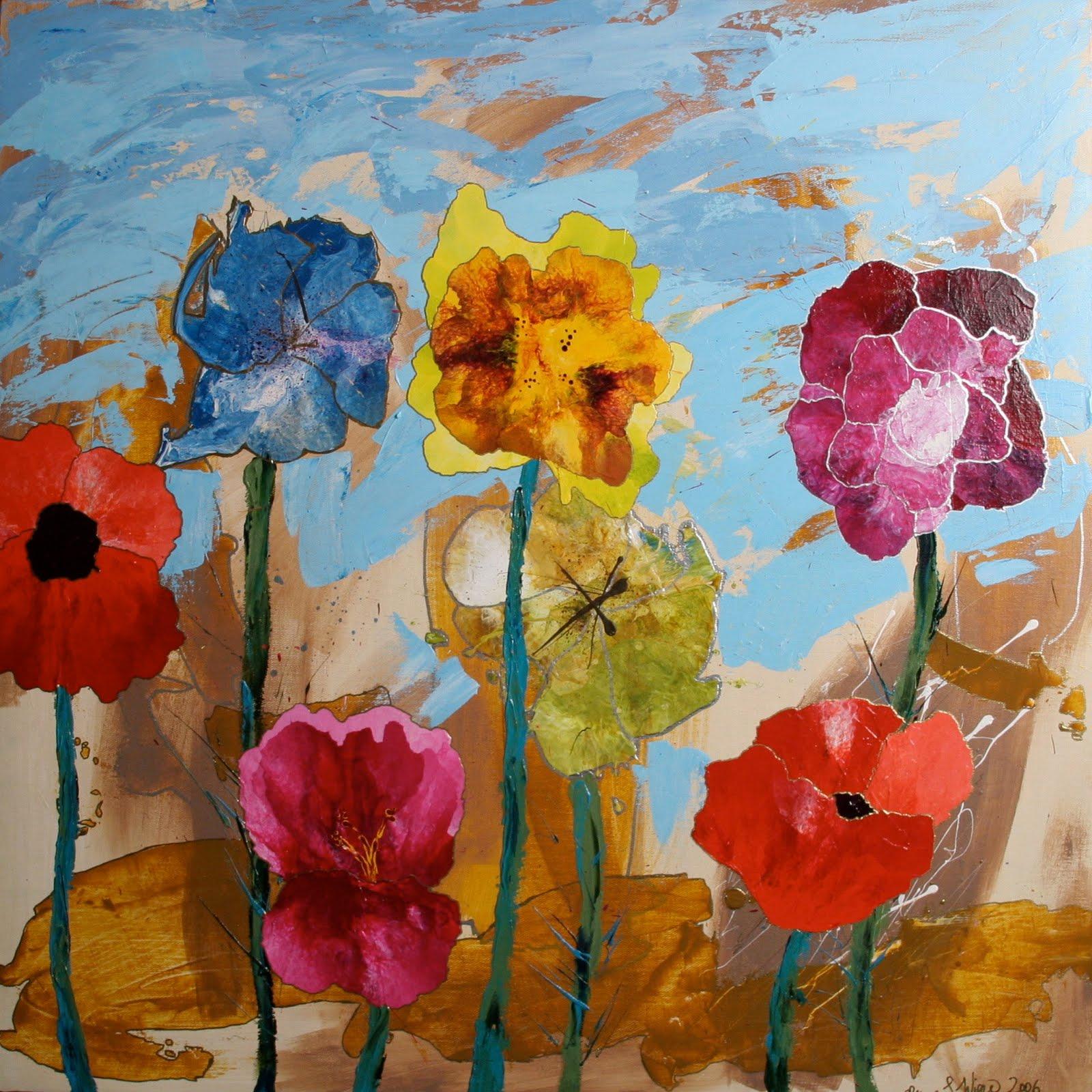 Acrylic Paintings by Ryan Wiese: Flower Paintings