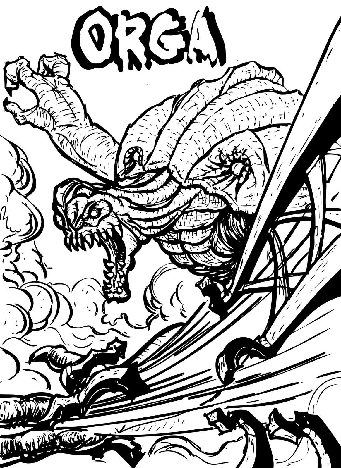 Destroyah Free Coloring Pages