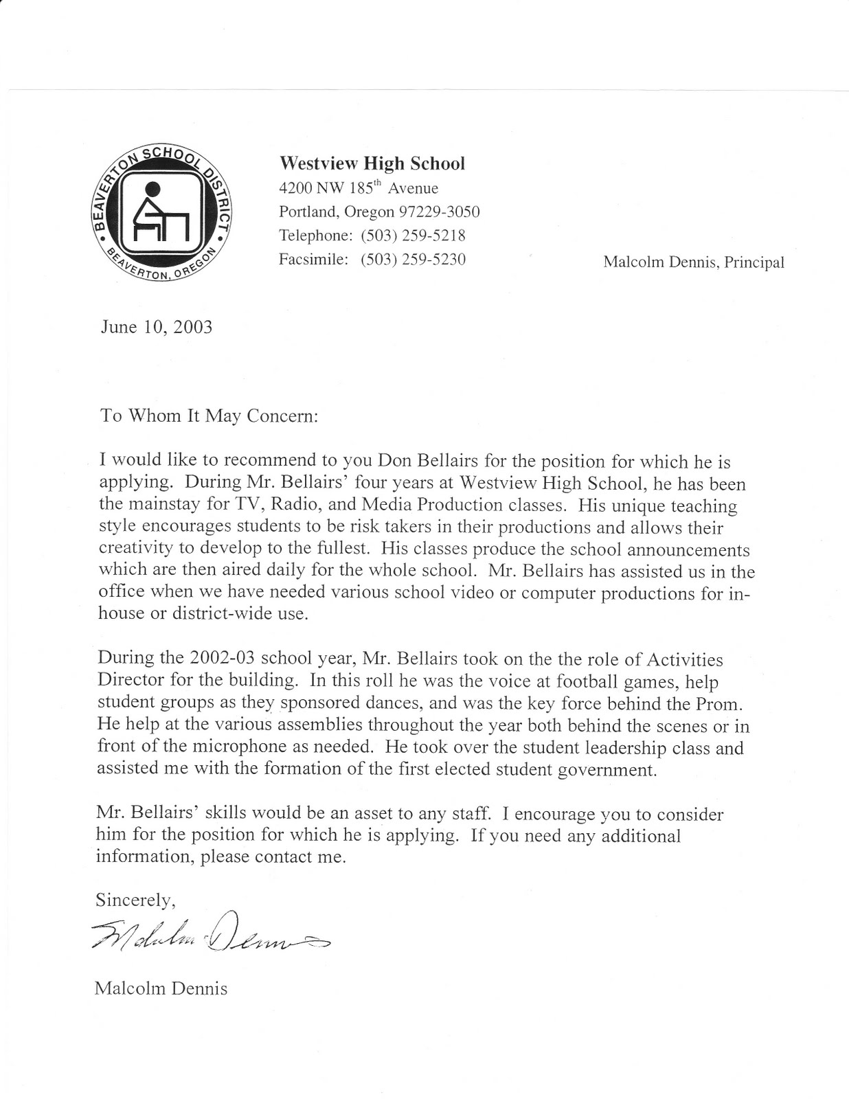 letter of recommendation for school principal position sample letter of recommendation for school principal position letters of recommendation myteacherlife letter of recommendation for teaching