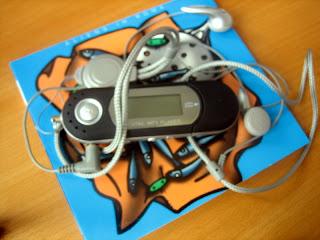 een typisch voorbeeld van zo'n oude MP3-stick