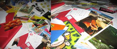 Een selectie van post die ik bewaard heb..