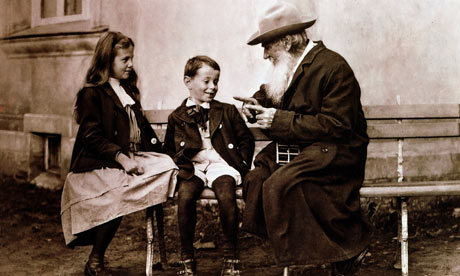 Leo Tolstoy in later life telling his grandchildren a story. Photograph: World History Archive/Alamy