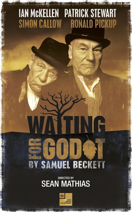 Patrick Stewart and Ian McKellen in UK production of Samuel Beckett's 'Waiting for Godot'