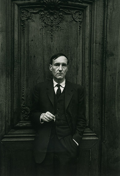 William Burroughs at the Institut française (Naked Lunch Launch series, Paris, October 1959)  by Brion Gysin