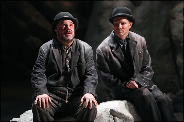 'Waiting for Godot,' with Nathan Lane, left, as Estragon, and Bill Irwin as Vladimir, at the Roundabout Theater Company.