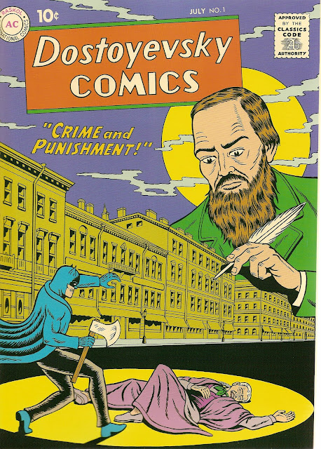 R. Sikoryak, 'Dostoyevsky Comics: Crime and Punishment' featuring Batman